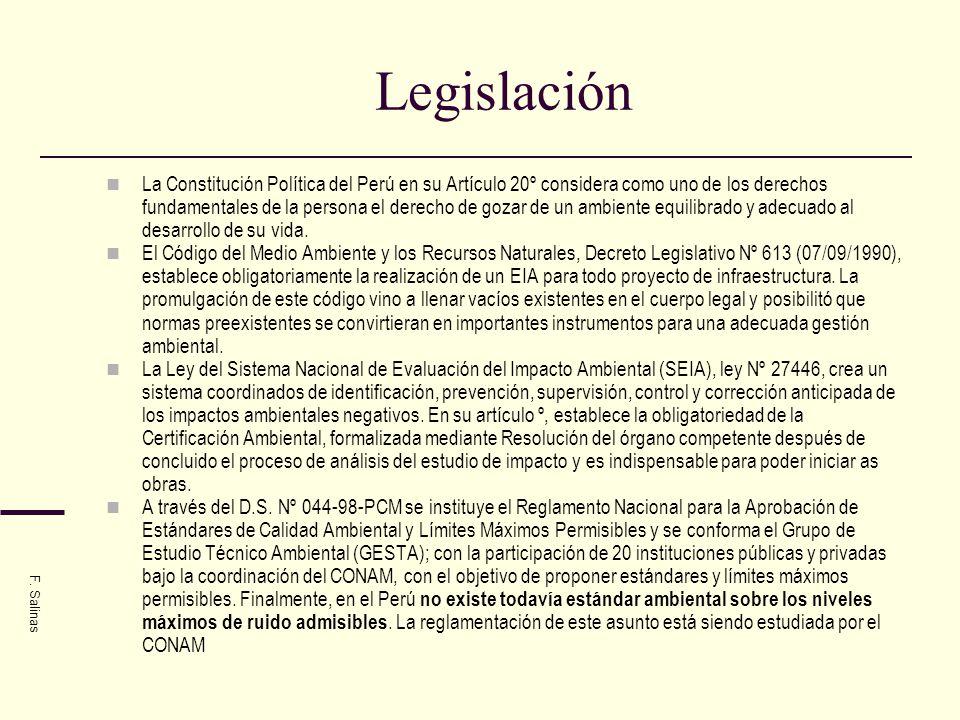 Legislación La Constitución Política del Perú en su Artículo 20º considera como uno de los derechos fundamentales de la persona el derecho de gozar de
