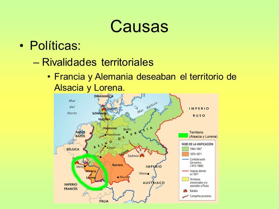 Austria, Prusia, Rusia deseaban el territorio de los Balcanes.