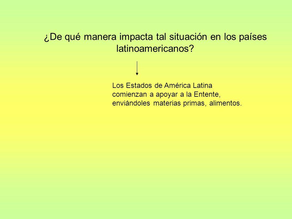 ¿De qué manera impacta tal situación en los países latinoamericanos.