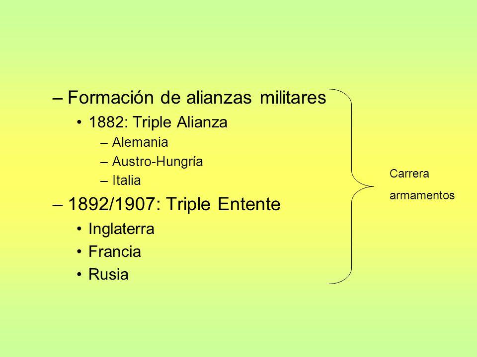 –Desintegración del imperio turco: genera crisis en los Balcanes –Causa inmediata: Atentado en Sarajevo, muerte de Francisco Fernando, archiduque de Austro-Hungría.