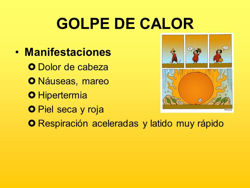 GOLPE DE CALOR ¿Qué podemos hacer.