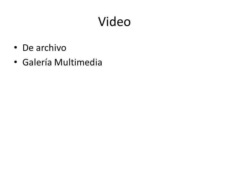 Video De archivo Galería Multimedia