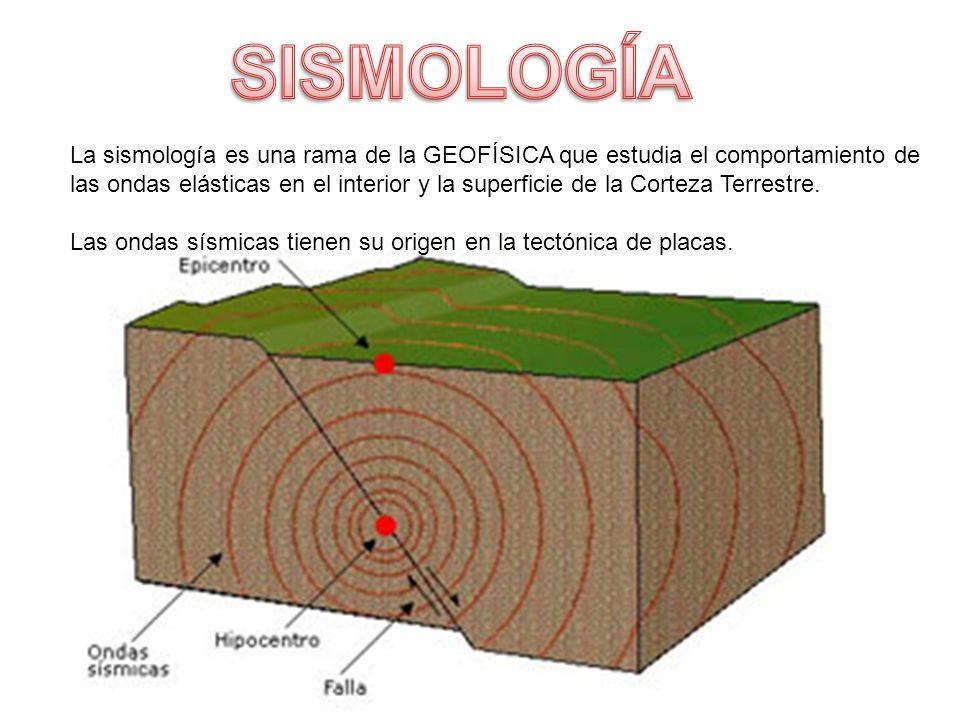 La sismología es una rama de la GEOFÍSICA que estudia el comportamiento de las ondas elásticas en el interior y la superficie de la Corteza Terrestre.