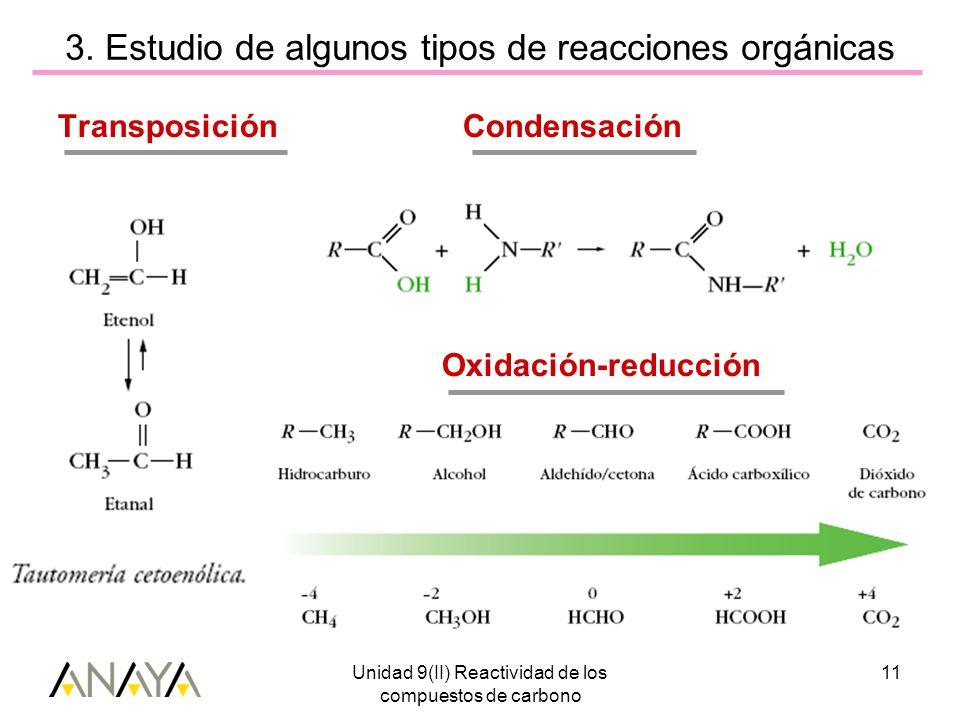 Unidad 9(II) Reactividad de los compuestos de carbono 11 3.