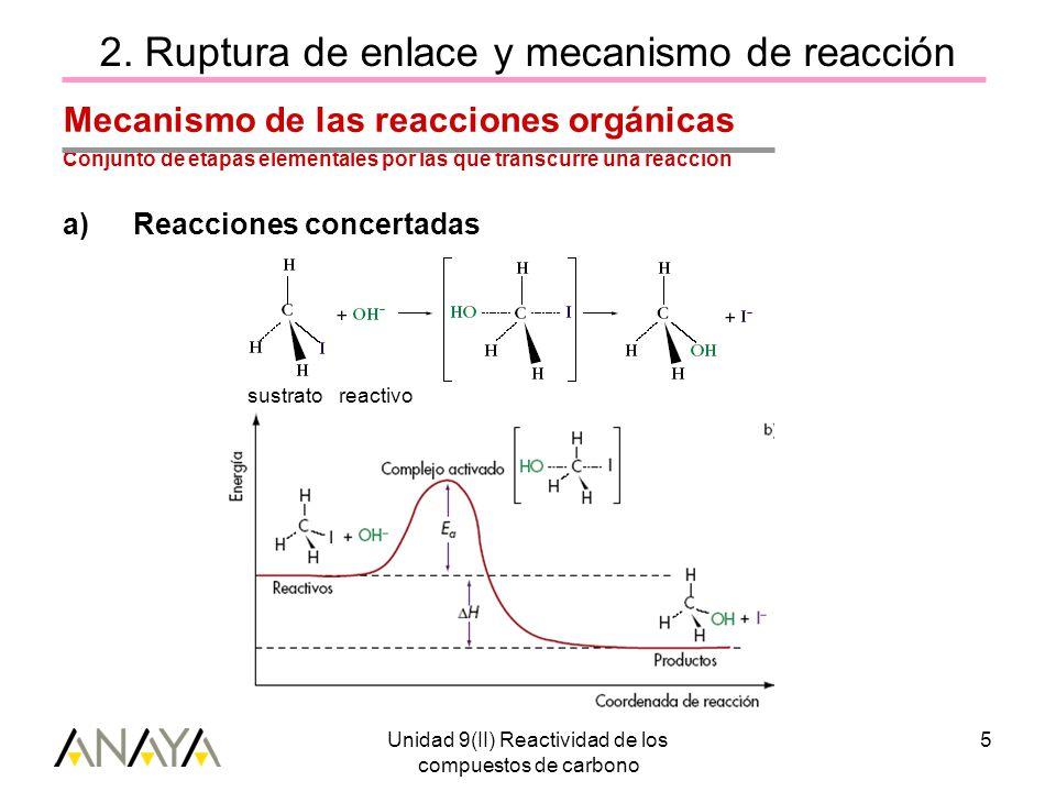 Unidad 9(II) Reactividad de los compuestos de carbono 5 2.