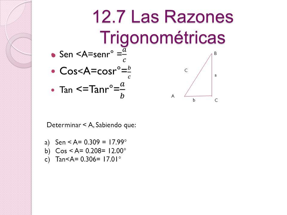 12.5 Semejanzas en triángulos rectángulos C A D B ABC- CBD 12.6 Áreas de triángulos semejantes = 2 2 2 2 k 2 k =