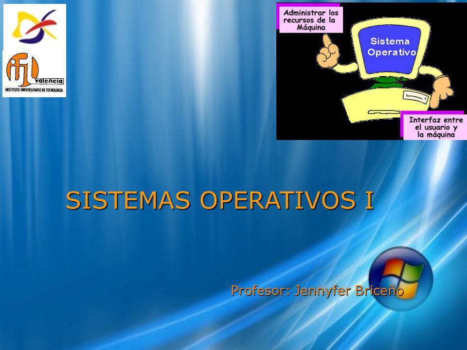 Profesor: Jennyfer Briceño SISTEMAS OPERATIVOS I