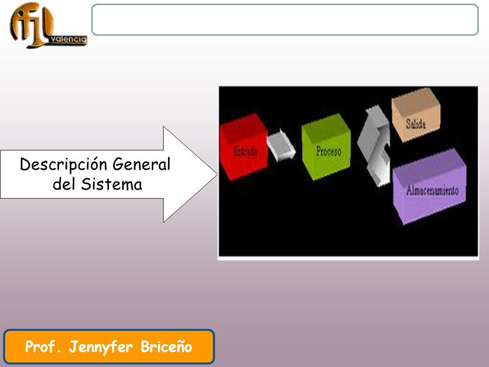 Unidad Didáctica I Clase II Prof. Jennyfer Briceño Descripción General del Sistema