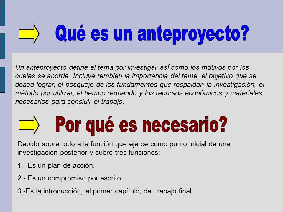 En el ejemplo anterior sus fundamentos serán: 1 Marco conceptual: el concepto de análisis.