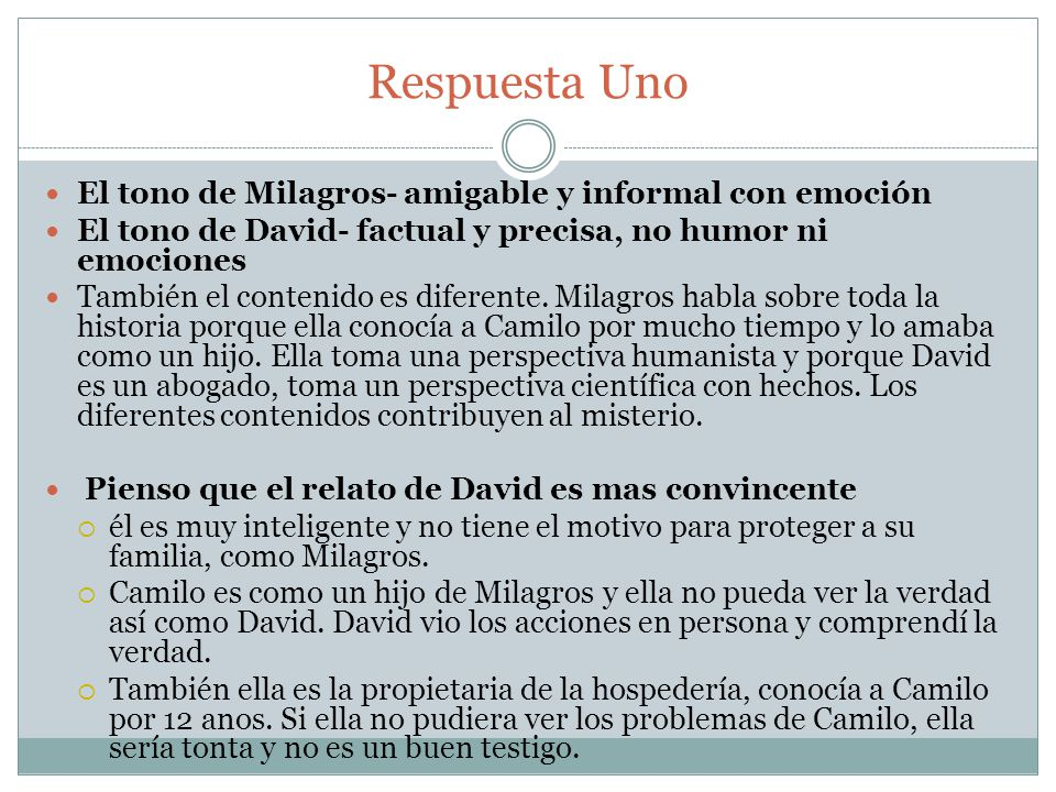 Pregunta Dos 2.¿Qué piensa Réguel sobre el carácter psicológico de Camilo.