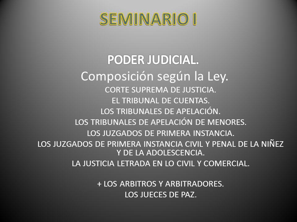 Procedimiento para la designación de magistrados y funcionarios judiciales.