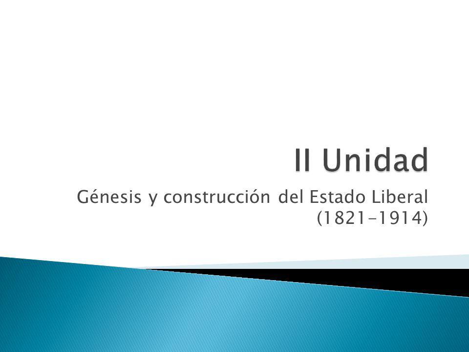 Génesis y construcción del Estado Liberal (1821-1914)