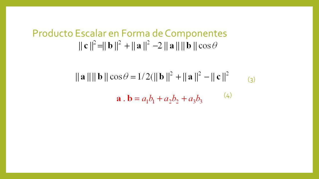 Producto Escalar en Forma de Componentes (3) (4)