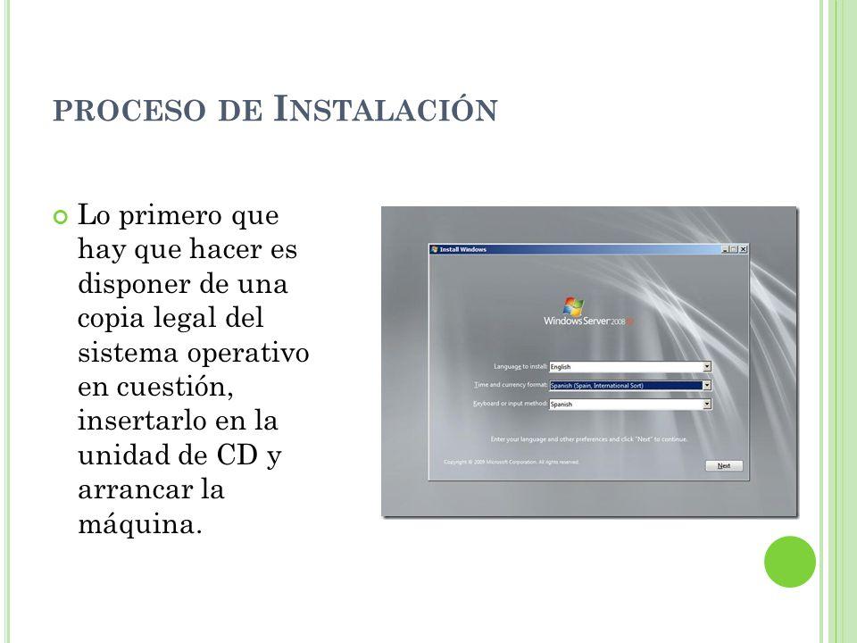 Posterior al inicio, se solicitan los datos referentes al idioma, formato de moneda e idioma del teclado, seleccionar la de conveniencia y clic en Next.