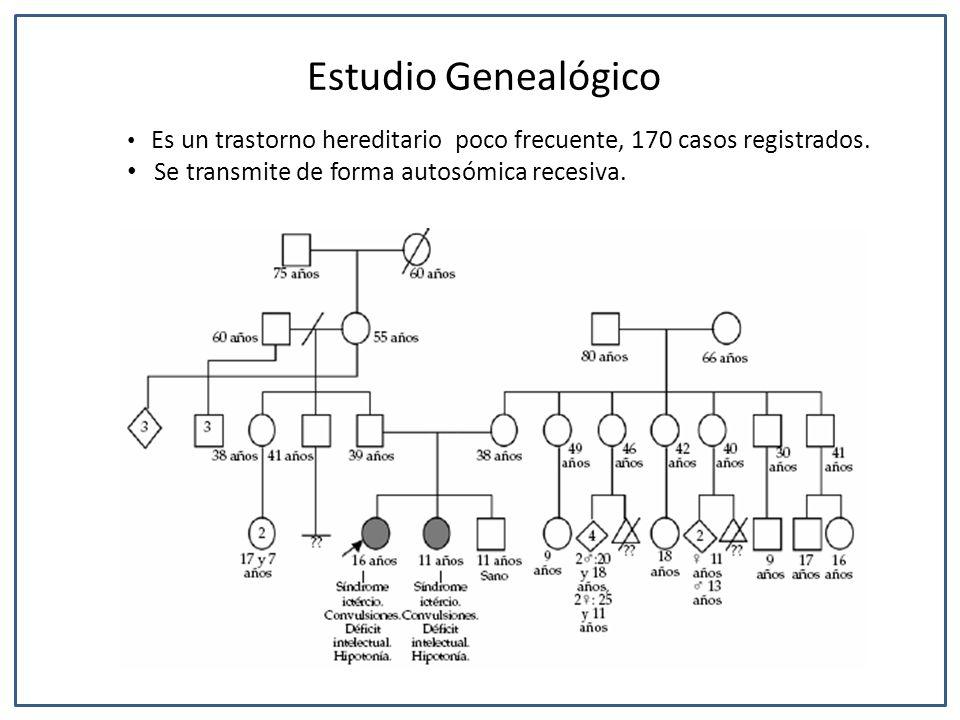 Es un trastorno hereditario poco frecuente, 170 casos registrados. Se transmite de forma autosómica recesiva. Estudio Genealógico