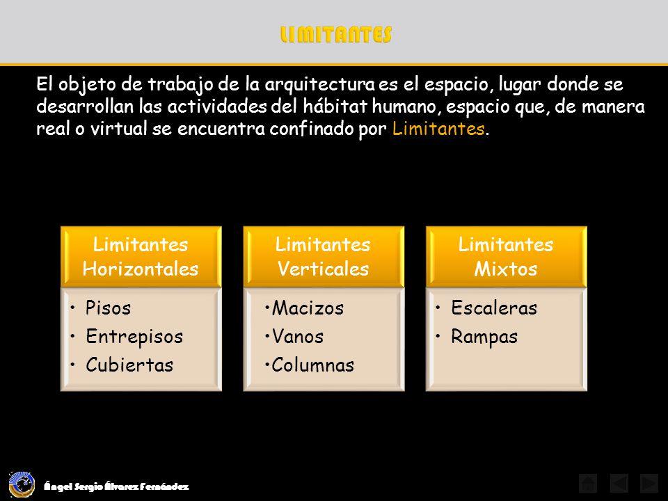 Ángel Sergio Álvarez Fernández El objeto de trabajo de la arquitectura es el espacio, lugar donde se desarrollan las actividades del hábitat humano, e