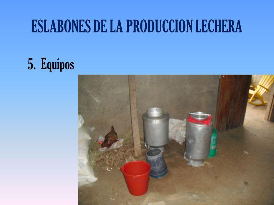 ESLABONES DE LA PRODUCCION LECHERA 5.Equipos