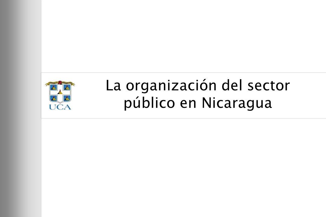 5 La organización del sector público en Nicaragua