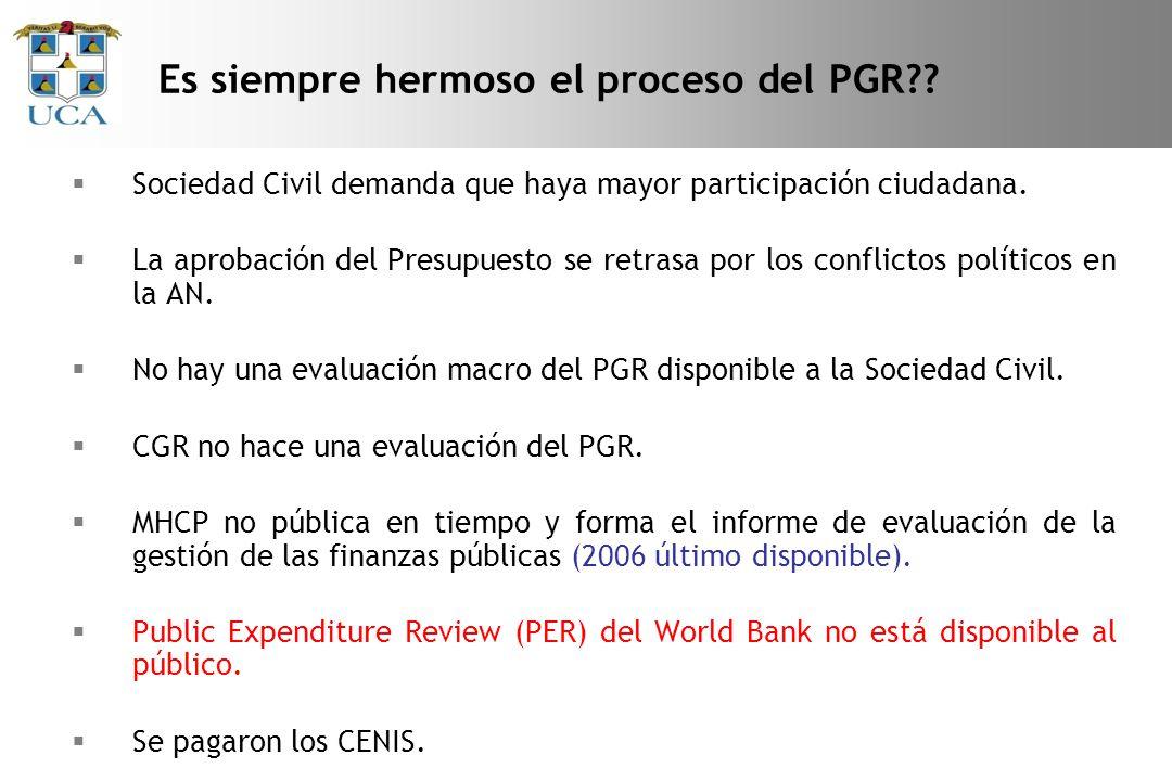 Es siempre hermoso el proceso del PGR?.