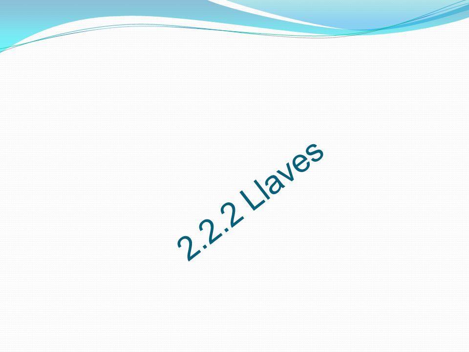 2.2.2 Llaves