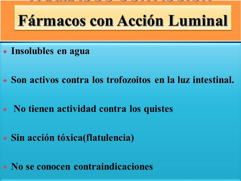 DERIVADOS 5 NITROIMIDAZOLICO S METRONIDAZOL TINIDAZOL ORNIDAZOL SECNIDAZOL EXCLUSIVAMENTE HISTICA 1.-DERIVADOS DE IPECACUANA CLORHIDRATO DE EMETINA DIHIDROEMETINA 2.-4 AMINOQUINOLEINAS CLOROQUINA