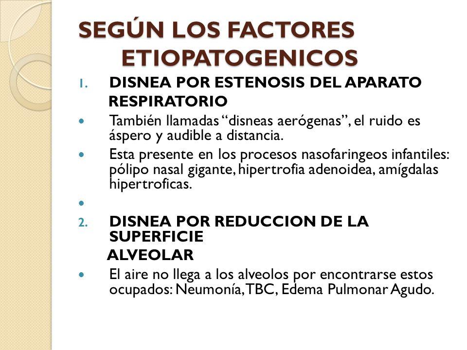 SEGÚN LOS FACTORES ETIOPATOGENICOS 1.