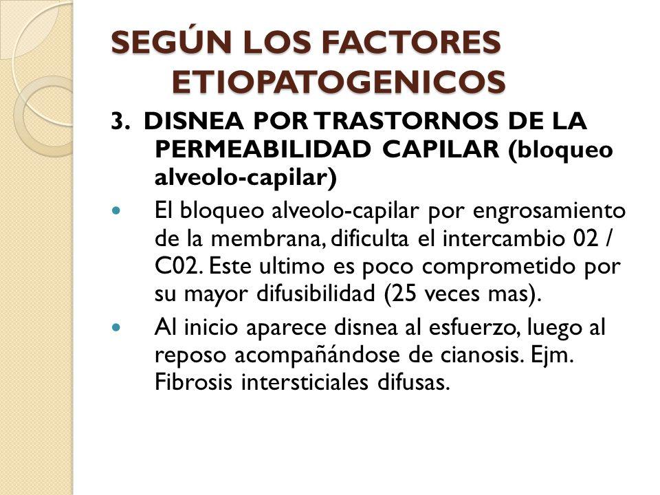 SEGÚN LOS FACTORES ETIOPATOGENICOS 3.