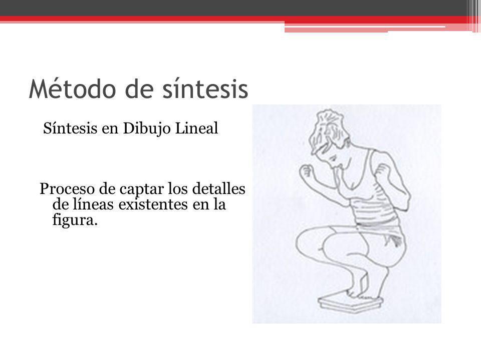 Método de síntesis Síntesis en Dibujo Lineal Proceso de captar los detalles de líneas existentes en la figura.