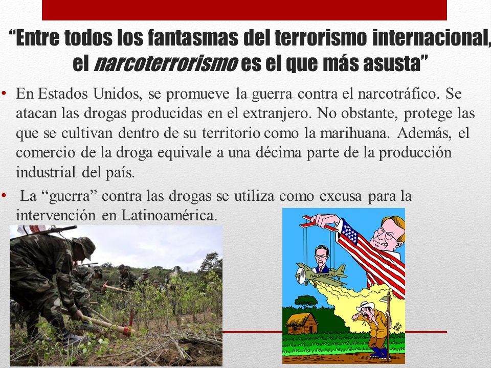Entre todos los fantasmas del terrorismo internacional, el narcoterrorismo es el que más asusta En Estados Unidos, se promueve la guerra contra el nar