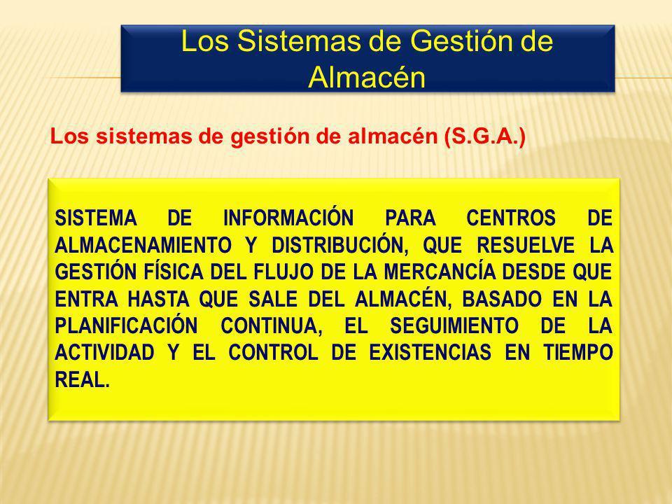 SISTEMA DE INFORMACIÓN PARA CENTROS DE ALMACENAMIENTO Y DISTRIBUCIÓN, QUE RESUELVE LA GESTIÓN FÍSICA DEL FLUJO DE LA MERCANCÍA DESDE QUE ENTRA HASTA QUE SALE DEL ALMACÉN, BASADO EN LA PLANIFICACIÓN CONTINUA, EL SEGUIMIENTO DE LA ACTIVIDAD Y EL CONTROL DE EXISTENCIAS EN TIEMPO REAL.
