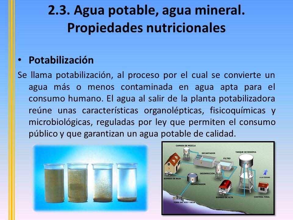 Agua Mineral El agua más conocida es la mineral, cuya composición es a base de minerales y diversas sustancias disueltas que proporcionan un sabor y un valor terapéutico a la bebida.