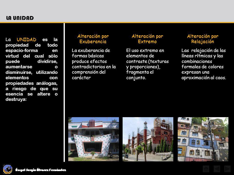 Ángel Sergio Álvarez Fernández La UNIDAD se estructura considerando las razones fundamentales de la forma sus intenciones y los elementos para alcanzar esa forma: El Factor GeneradorEl ConceptoLos Valores Formales