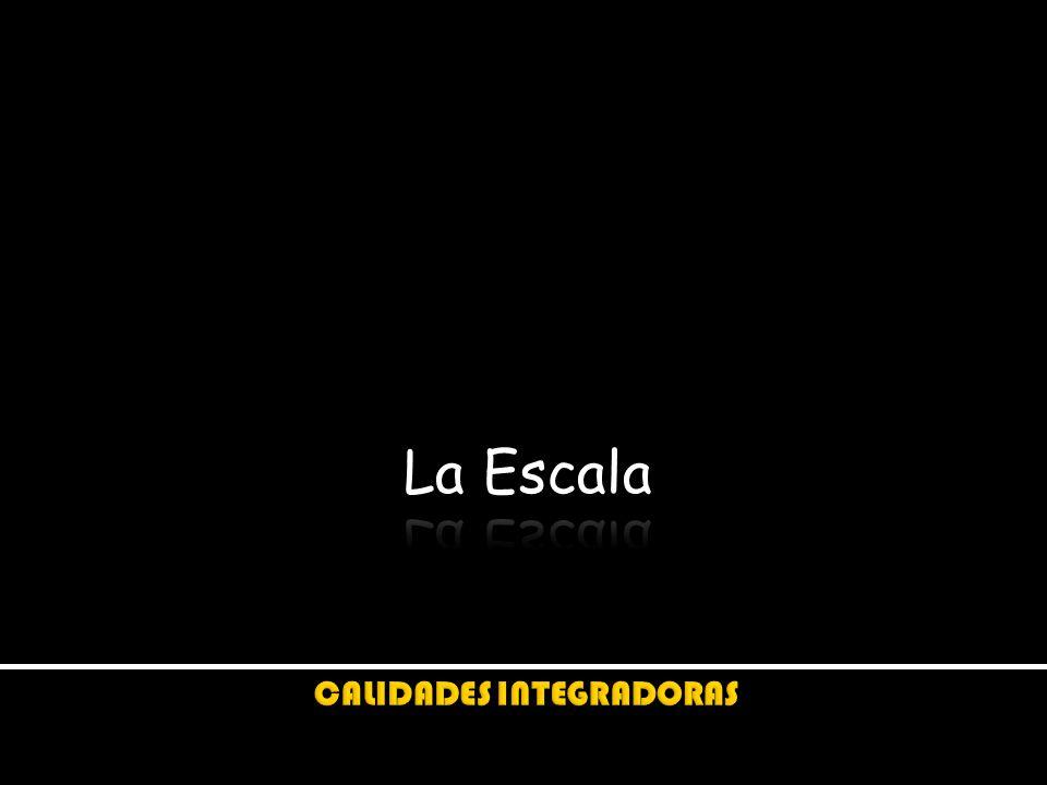Ángel Sergio Álvarez Fernández La ESCALA es el modo como percibimos el tamaño de un espacio-forma en confrontación y oposición con la dimensión de los espacios y personas contextuales.