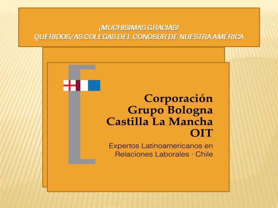 ¡MUCHISIMAS GRACIAS! QUERIDOS/AS COLEGAS DEL CONOSUR DE NUESTRA AMÉRICA