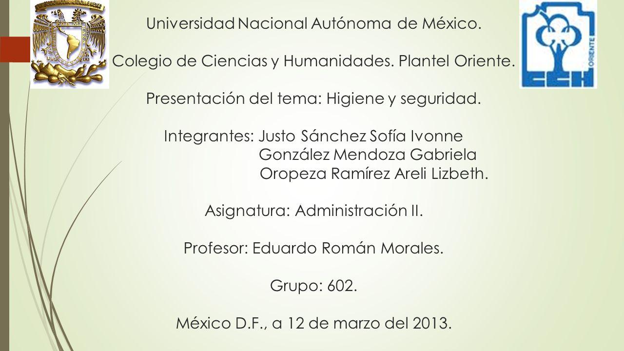 Universidad Nacional Autónoma de México.Colegio de Ciencias y Humanidades.