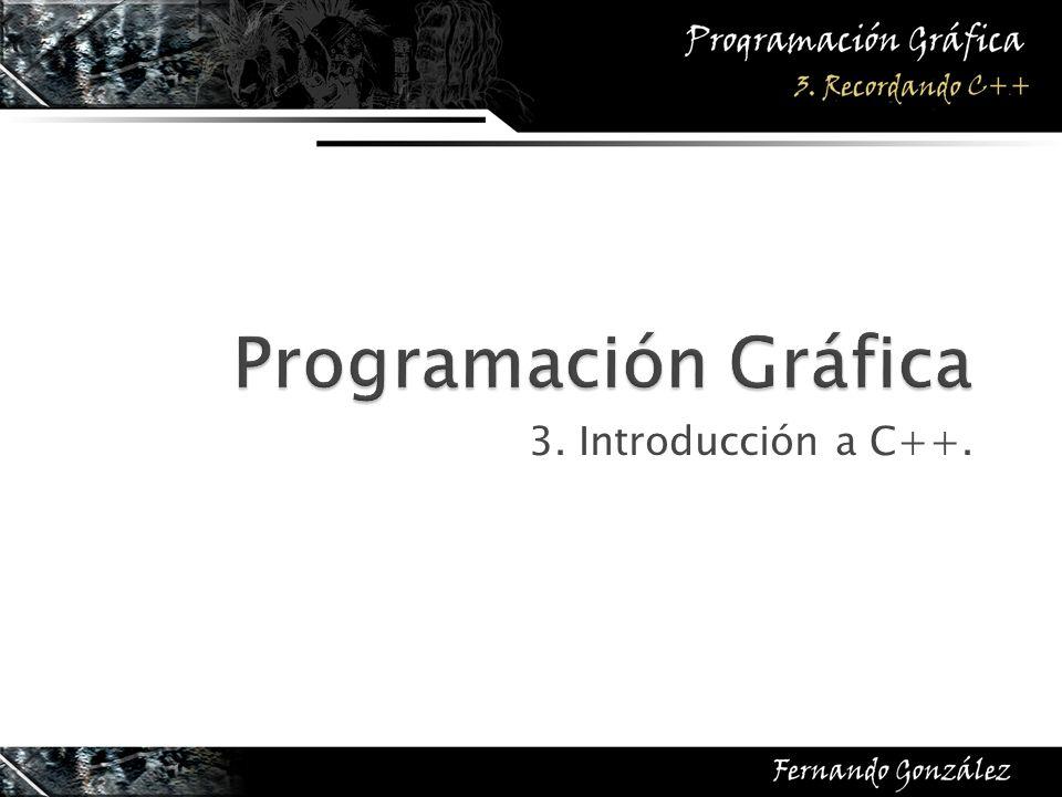 3. Introducción a C++.