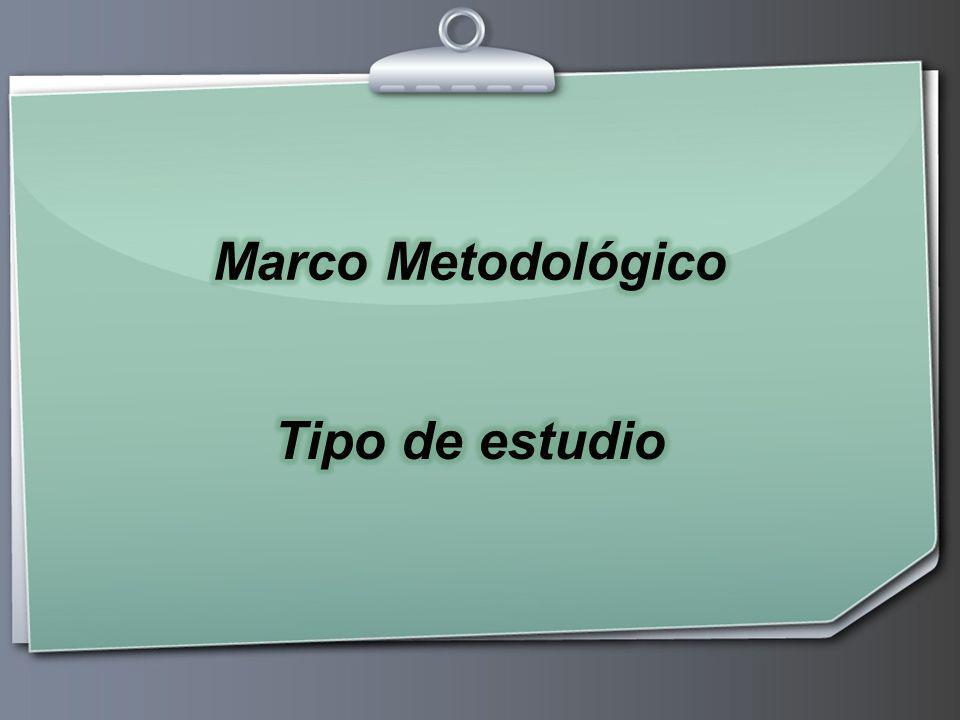 Anny Miranda González --- Marco Metodológico