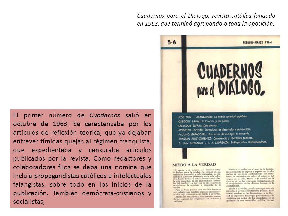 El primer número de Cuadernos salió en octubre de 1963.