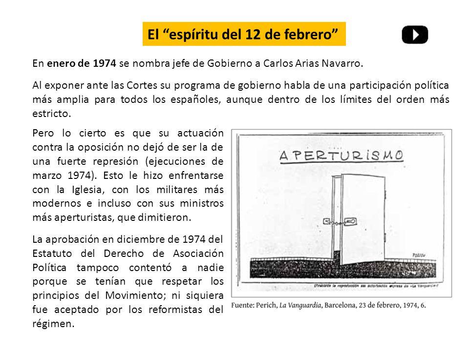Pero lo cierto es que su actuación contra la oposición no dejó de ser la de una fuerte represión (ejecuciones de marzo 1974).