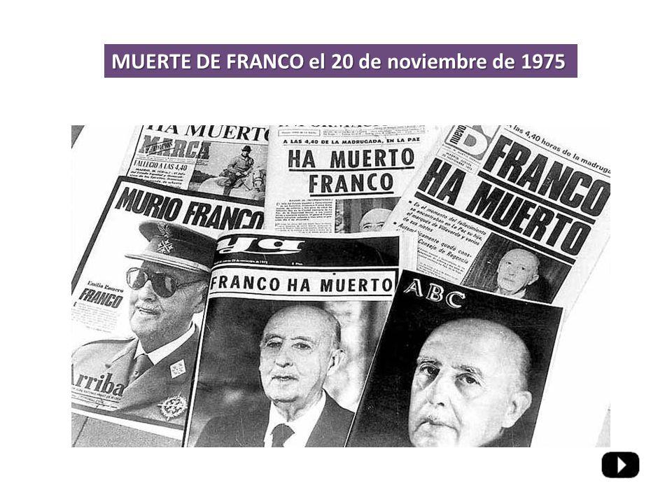 MUERTE DE FRANCO el 20 de noviembre de 1975
