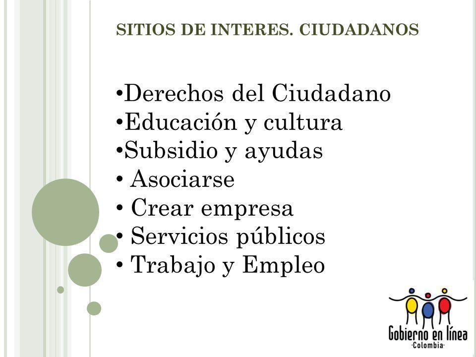 SITIOS DE INTERES.