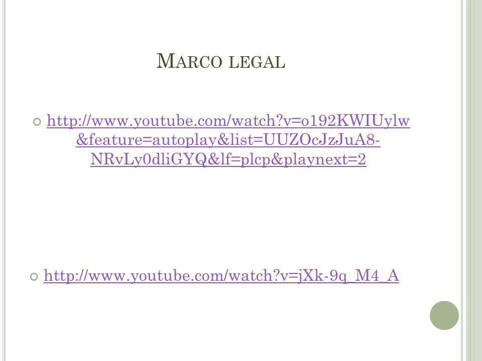 M ARCO LEGAL http://www.youtube.com/watch?v=o192KWIUylw &feature=autoplay&list=UUZOcJzJuA8- NRvLy0dliGYQ&lf=plcp&playnext=2 http://www.youtube.com/watch?v=o192KWIUylw &feature=autoplay&list=UUZOcJzJuA8- NRvLy0dliGYQ&lf=plcp&playnext=2 http://www.youtube.com/watch?v=jXk-9q_M4_A