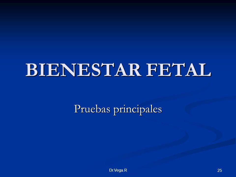 Dr.Vega.R 25 BIENESTAR FETAL Pruebas principales