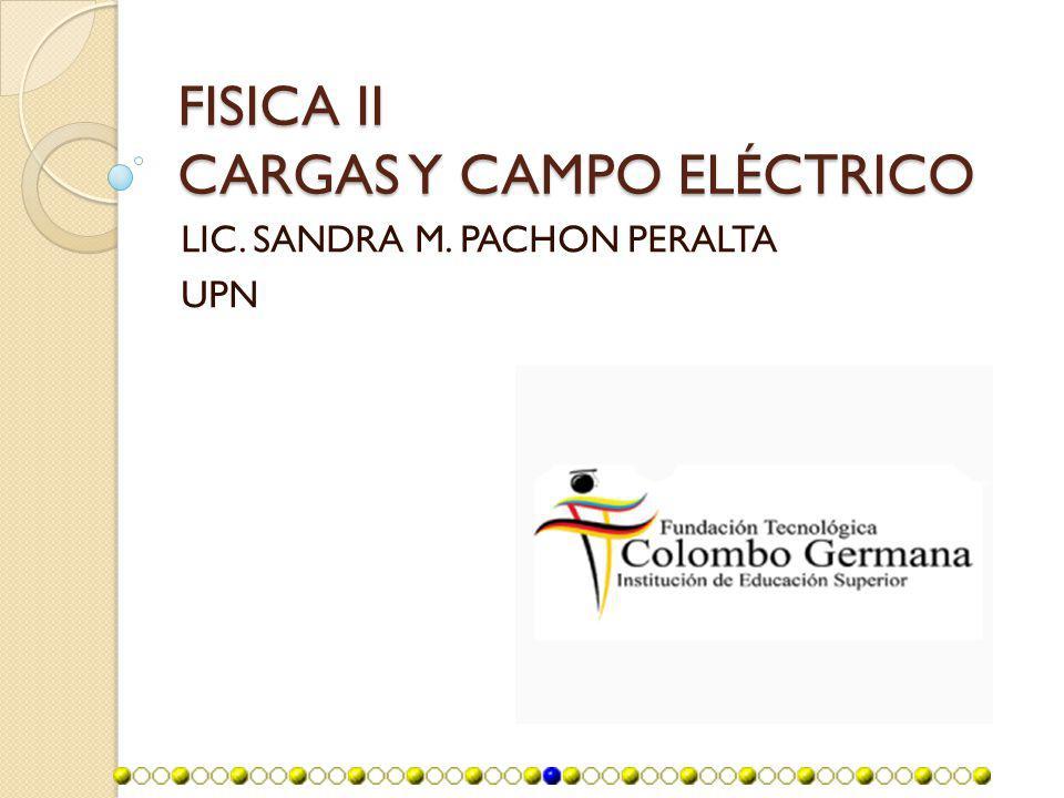 FISICA II CARGAS Y CAMPO ELÉCTRICO LIC. SANDRA M. PACHON PERALTA UPN