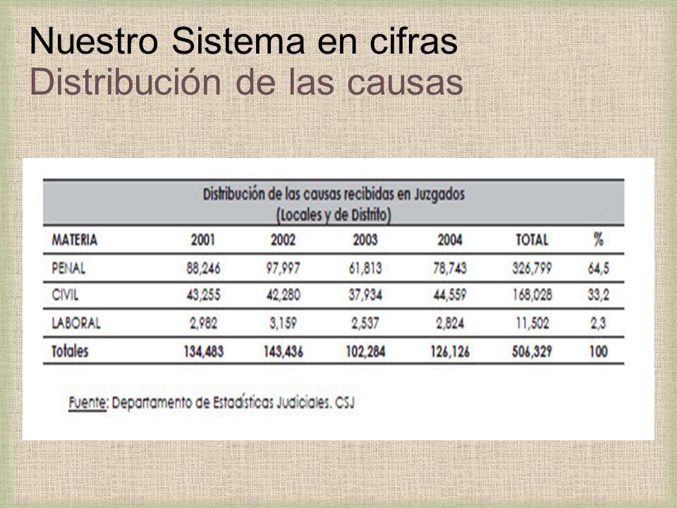 Nuestro Sistema en cifras Distribución de las causas