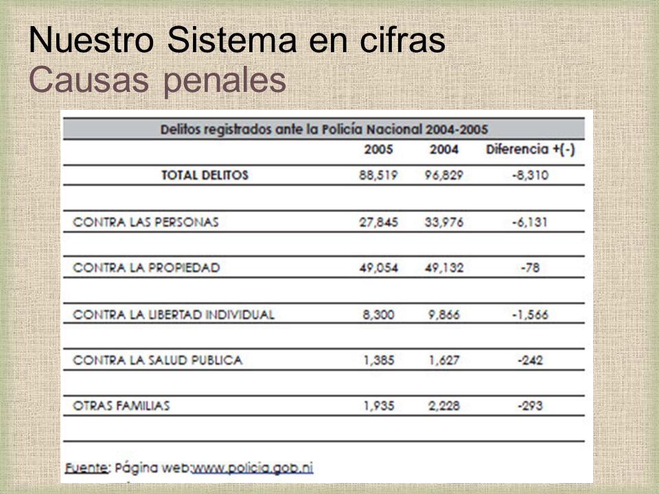Nuestro Sistema en cifras Causas penales