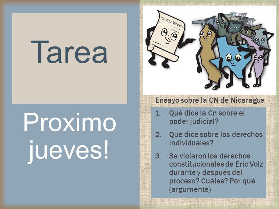 Ensayo sobre la CN de Nicaragua 1.Qué dice la Cn sobre el poder judicial? 2.Que dice sobre los derechos individuales? 3.Se violaron los derechos const