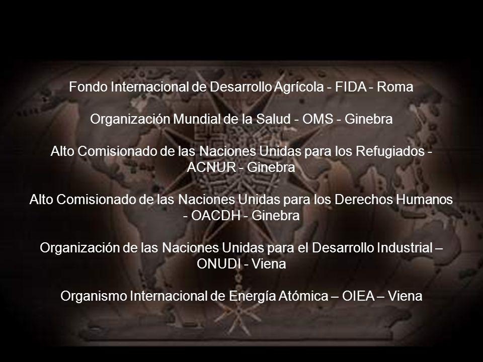 Misiones permanentes de la Orden de Malta ante las Naciones Unidas y sus agencias especializadas: Naciones Unidas - Nueva York Naciones Unidas - Gineb