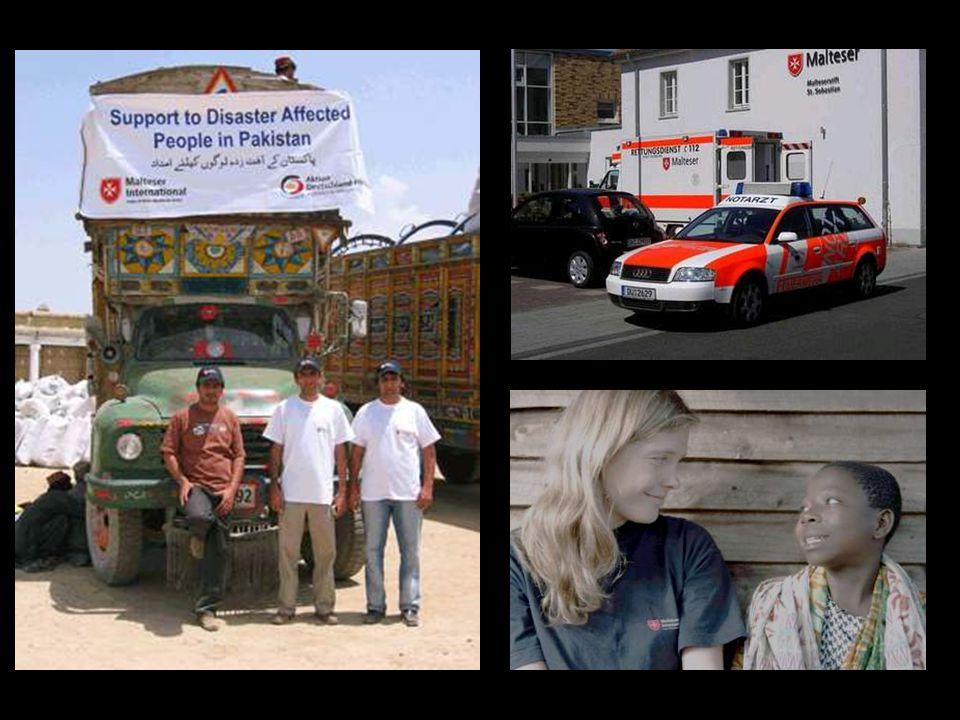 A través del «Malteser International» -con 80.000 voluntarios permanentes- actúa en primera línea en catástrofes naturales y conflictos bélicos.Malteser International En él trabajan 100 expertos en ayuda humanitaria de emergencia junto a 900 agentes locales en zonas en crisis como Kosovo, Afganistán, Sudán y el sudeste asiático.