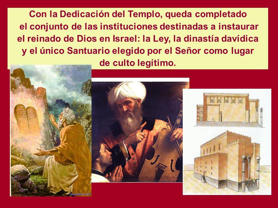 Salomón fue elegido para construir el Templo de Jerusalén, conforme a las minuciosas instrucciones recibidas de su padre David. (1 Crón. 28. 10)